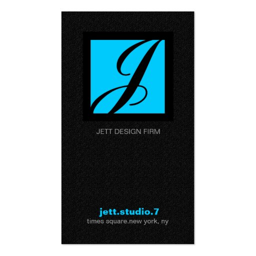 311-SIMPLY SQUARE MONOGRAM TEXTURE-BLUE BUSINESS CARD