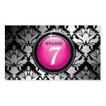 """311-Sleek """"Button"""" Hot Pink Business Card"""