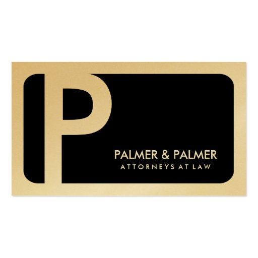 311-Sleek Corporate | Law Gold Card Business Cards