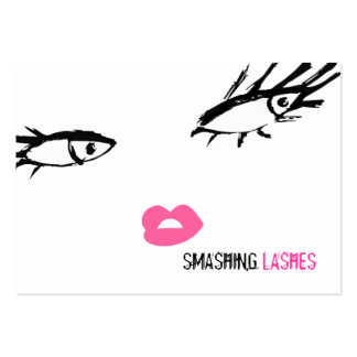 311 Smashing Lashes Chubby B Card Business Card Templates