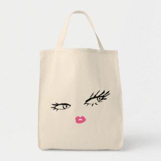 311-Smashing Lashes Grocery Tote Bag