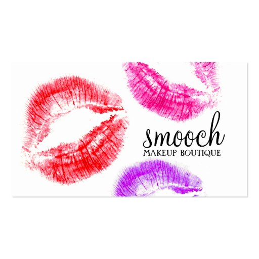 311-Smooch Colorful Kisses Double-Sided Standard Business Cards (Pack Of 100)
