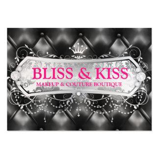 311 Snow Bliss Black Tuft Metallic Large Business Card