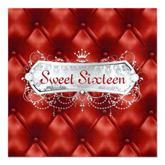311 Snow Bliss Red Tuft Customizable Card