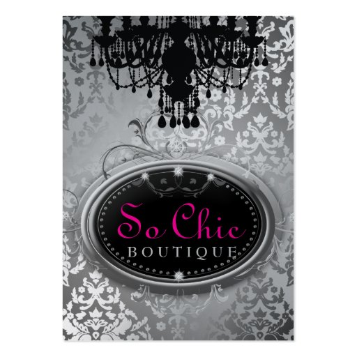 311 So Chic Boutique Silver Metallic Business Card Templates