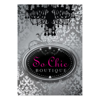 311 So Chic Boutique Silver Metallic Large Business Card