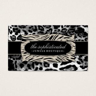 311 Sophisticated Jungle Black Leopard Business Card