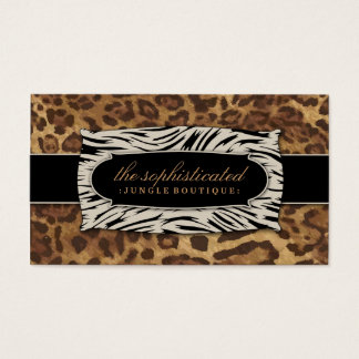 311 Sophisticated Jungle Leopard 2 Business Card