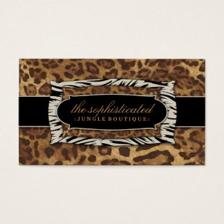 311-Sophisticated Jungle Leopard Business Card
