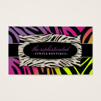 311 Sophisticated Jungle Pink Purebred Sunset Business Card