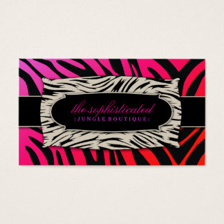 311 Sophisticated Jungle Purple Punch Business Card