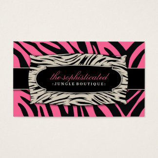 311 Sophisticated Jungle Rose Pink Business Card