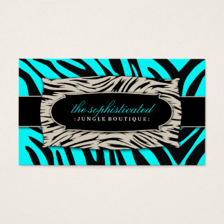 311 Sophisticated Jungle Turquoise Business Card