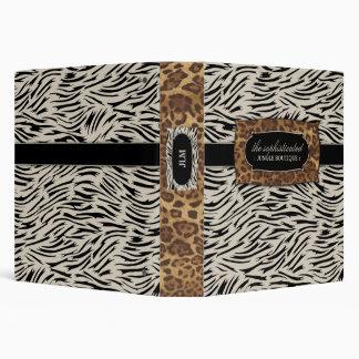 311-Sophisticated Jungle Zebra 3 Ring Binder