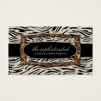 311 Sophisticated Jungle Zebra Business Card