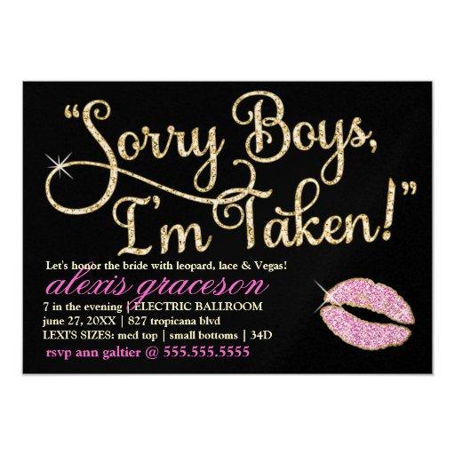 311 sorry boys im taken bachelorette 2 kiss card zazzle