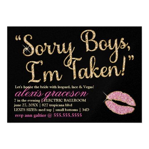 311 sorry boys im taken bachelorette kiss 5x7 paper