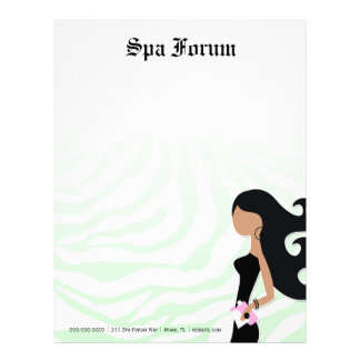 311-Spa Fashionista Ambrosia Green Zebra Long Hair Letterhead