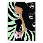 311-Spa Fashionista Bob Ambrosia Green Zebra Card