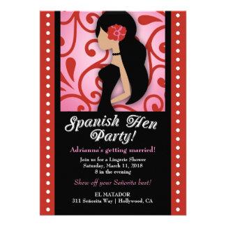 311-Spanish Hen Party Invitations
