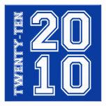 311-Sporty Graduation Announcement Blue Gold