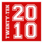311-Sporty Graduation Announcement Red White