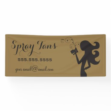 Professional Business 311 Spray Tan Banner Gold