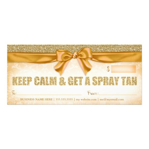 311 Spray Tan Gift Certificate Zazzle