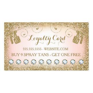 311 Spray Tan Loyalty Card 10 Diamonds Business Card