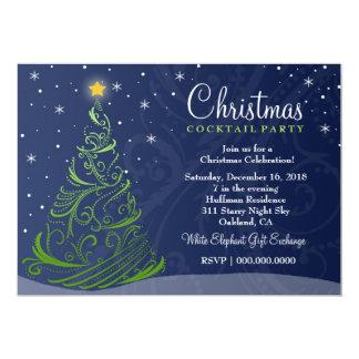 311 Starry Night Christmas Invite | Blue