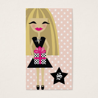 311-STEPHANIE BLONDE/STAR/GIFT with SPARKLE Business Card