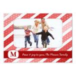 311 Stripes & Dots Holiday Photo Card Custom Invites