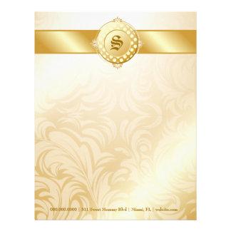311-Superfine Golden Sugar Monogram Letterhead Template