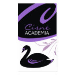 311-Swan Swirl | Purple Details Double-Sided Standard Business Cards (Pack Of 100)