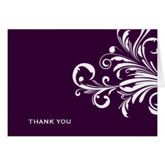 311-Swanky Swirls Eggplant Thank you Card