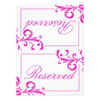 311 Swanky Swirls Reserved Sign 2 Invite