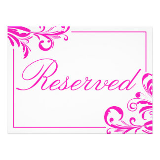 311 Swanky Swirls Reserved Sign Personalized Invite
