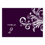 311-Swanky Swirls Table Numbers Eggplant Greeting Cards