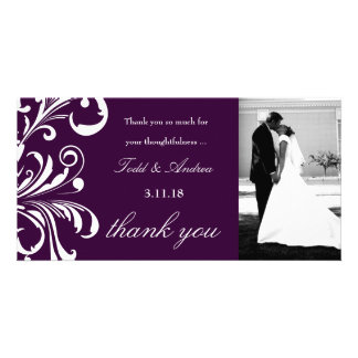 311-Swanky Swirls Thank You Eggplant Picture Card