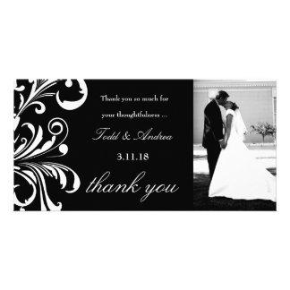 311-Swanky Swirls Thank You Photo Card
