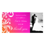 311-Swanky Swirls Thank You Photo Card Wild Sunset