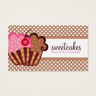311 Sweet Cakes Cupcake Brown Business Card
