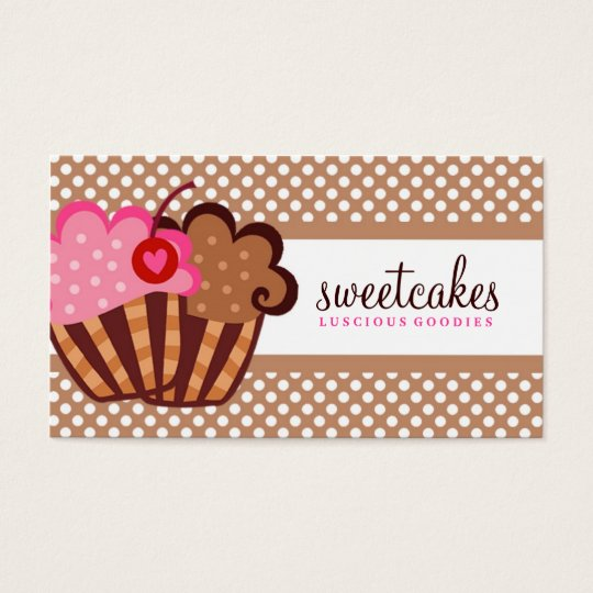 311 Sweet Cakes Cupcake Brown Business Card