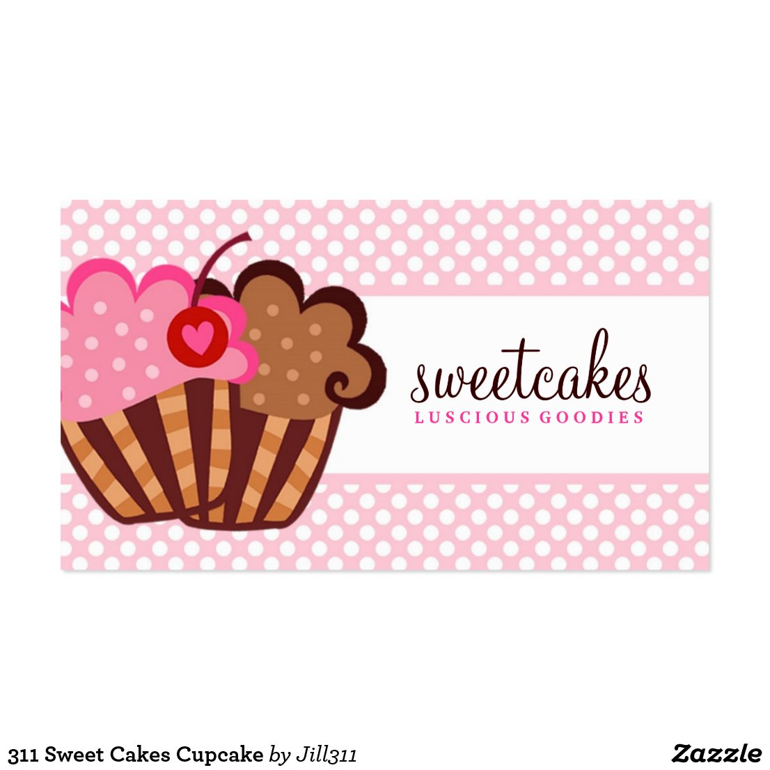 Cupcake business card template whimsical cupcake business 311 sweet cakes cupcake magicingreecefo Images