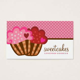 311 Sweet Cakes Cupcake Two Hearts Business Card