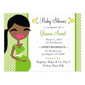 311-SWEET MOMMY TO BE SURPRISE AFRICAN AMERICAN POST CARD