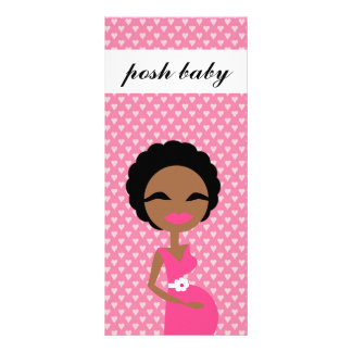 311 Sweet Pregnant Mommy Ethnic Rack Card Template