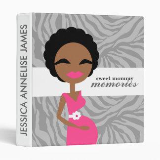 311-Sweet Pregnant Mommy Zebra - Ethnic 3 Ring Binder