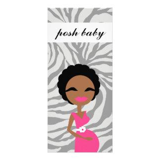 311 Sweet Pregnant Mommy Zebra- Ethnic Custom Rack Card