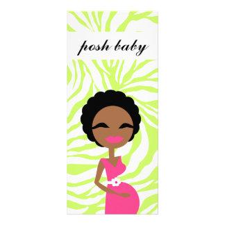 311 Sweet Pregnant Mommy Zebra Lime Ethnic Rack Card Design